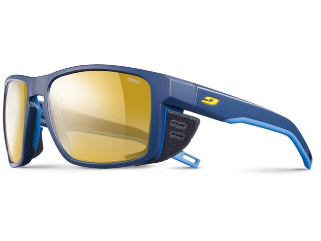 Julbo Shield Zebra Sunglasses Blue/Blue/Yellow-Yellow/Brown
